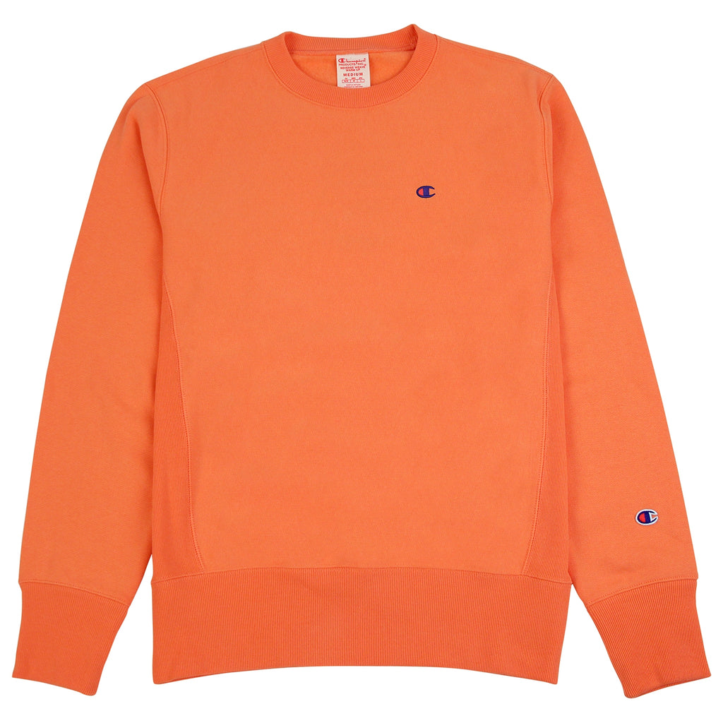 Champion Reverse Weave Classic Crew Sweatshirt in Safety Orange