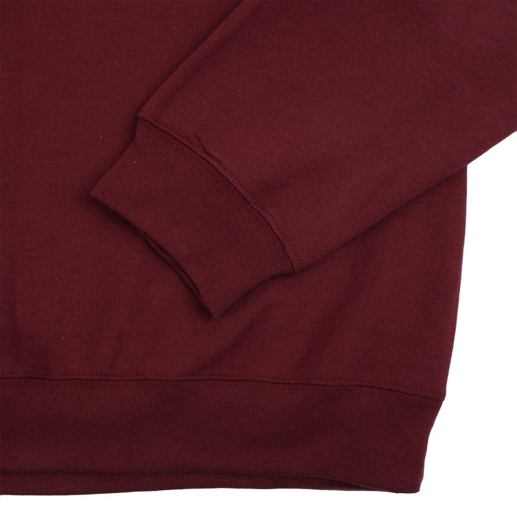 Signature Clothing Classic Logo Embroidered 1/4 Zip in Maroon - Sleeve