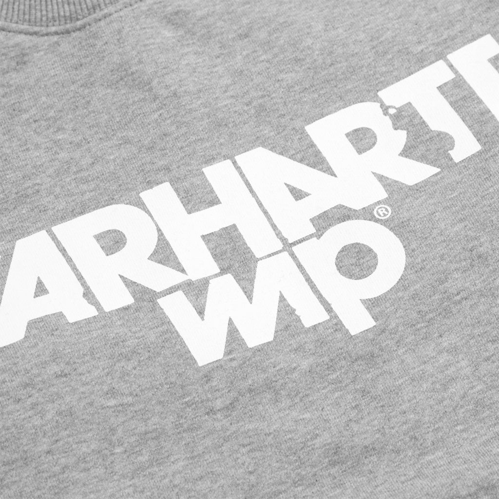 Carhartt Shatter Sweatshirt in Grey Heather / White - Print