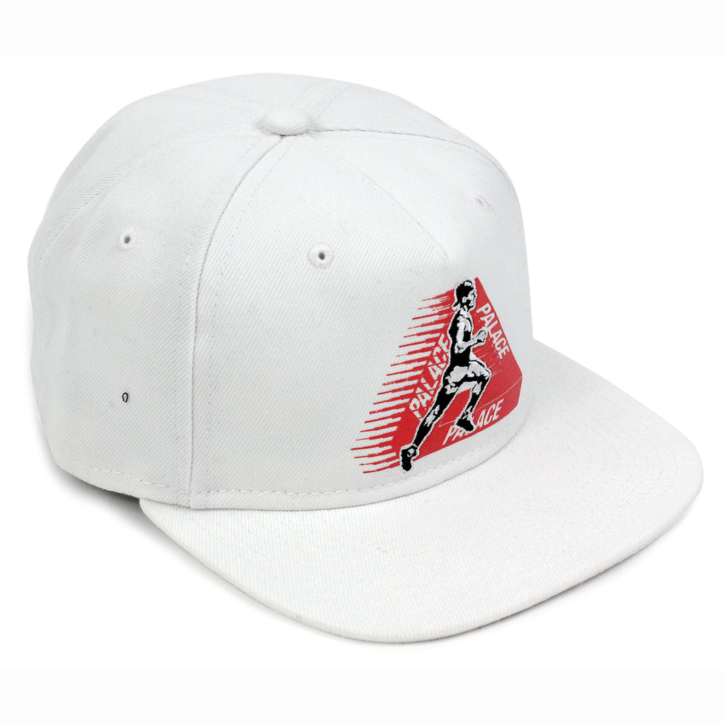 Palace Running Tings Snapback Hat in White