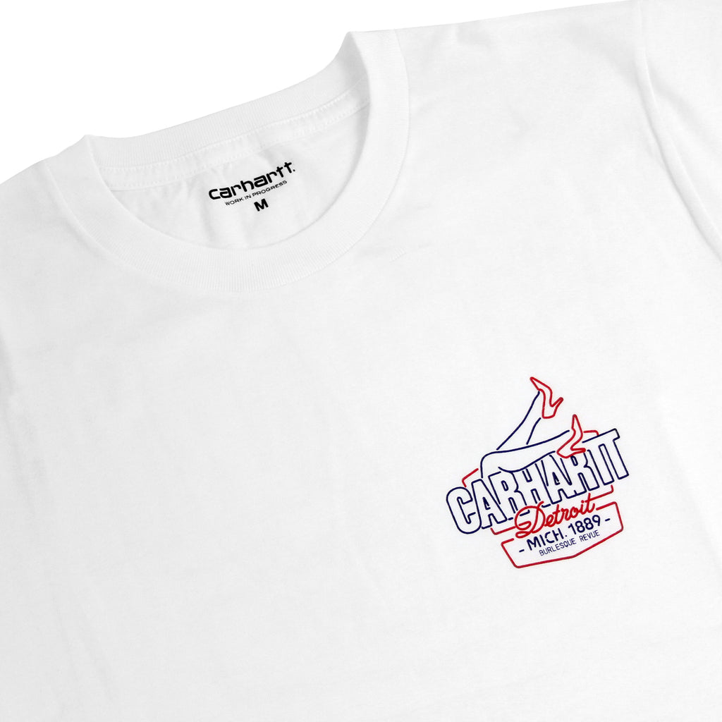 Carhartt WIP Burlesque T Shirt in White - Front detail