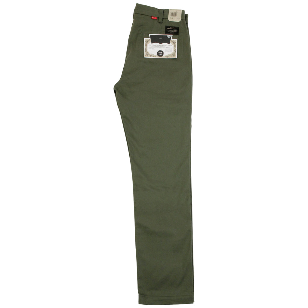 Levis Skateboarding Work Pant in Ivy Green- Leg profile