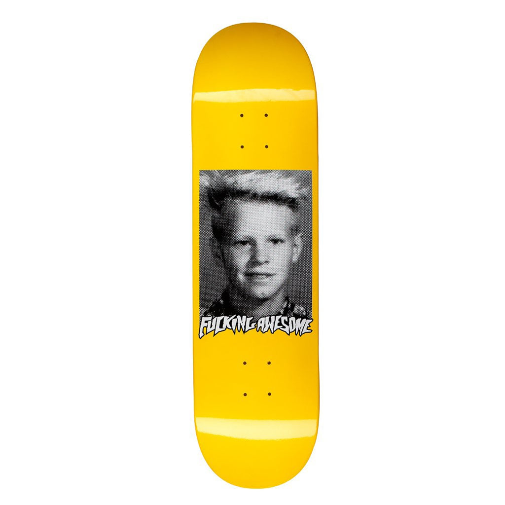 Fucking Awesome AVE Class Photo Dipped Yellow Skateboard Deck in 8.38""