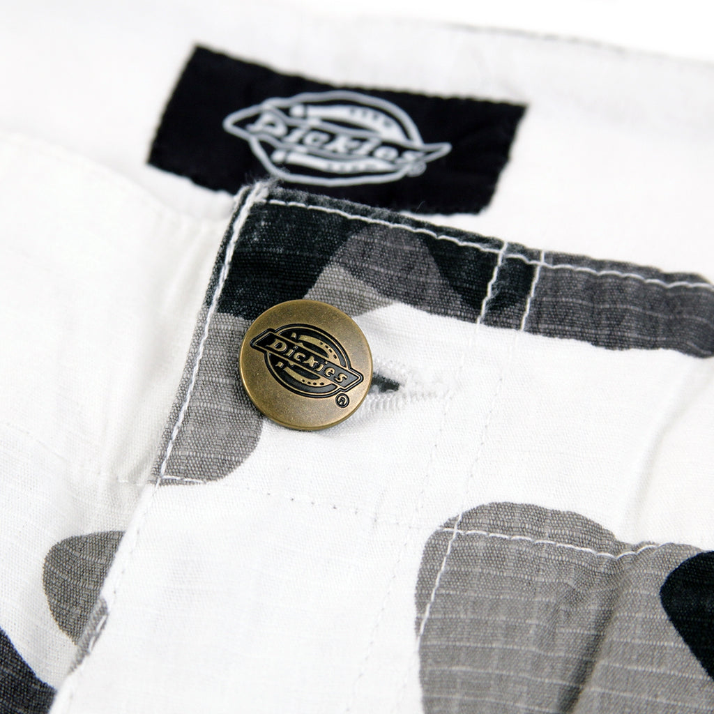 Dickies New York Pant in White Camo - Button