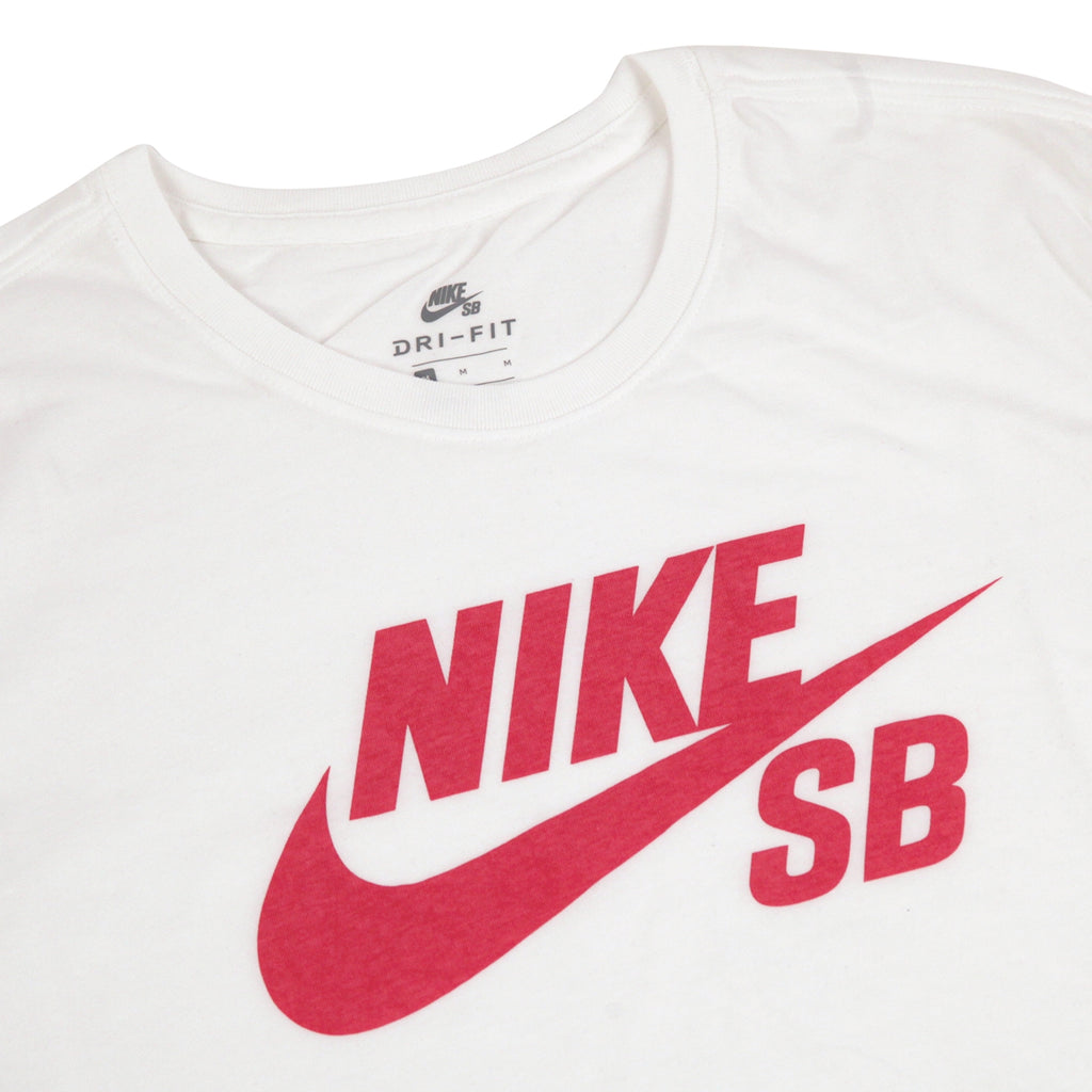 7188534ca64d9 SB Logo T Shirt in White / Elemental Pink by Nike SB | Bored of Southsea