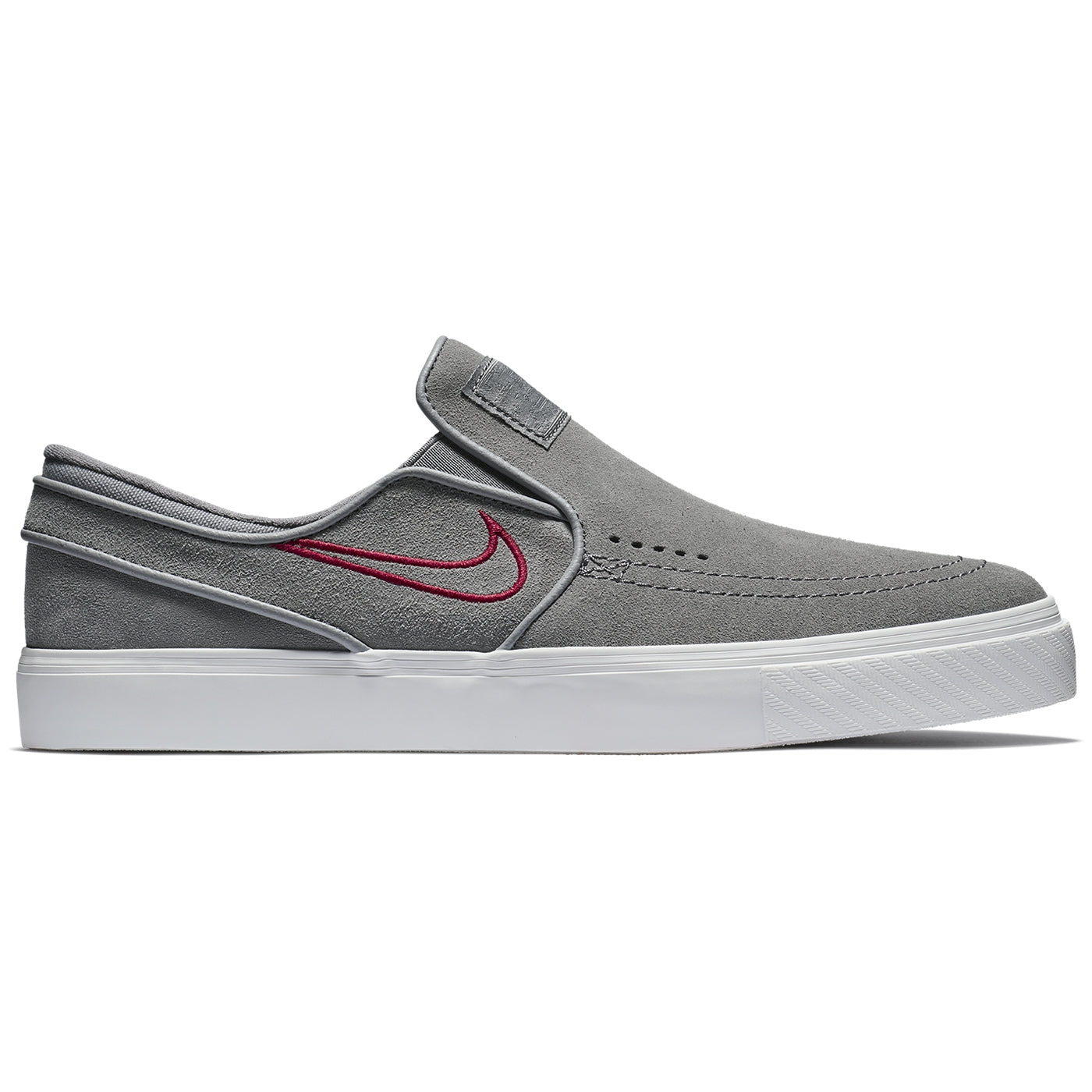 save off d6913 e2d32 Nike SB Zoom Stefan Janoski Slip Shoes - Gunsmoke   Gunsmoke - Red Crush