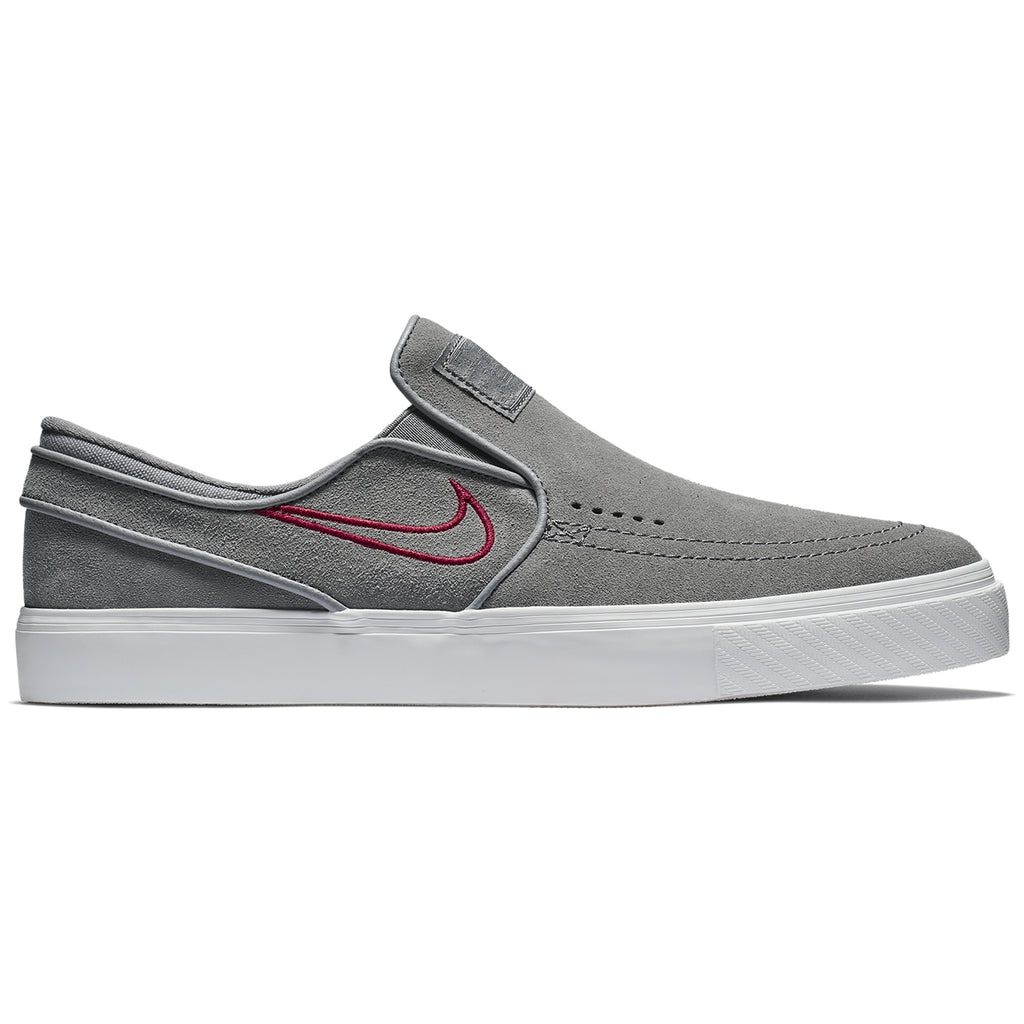 726144fde00 Nike SB Zoom Stefan Janoski Slip Shoes in Gunsmoke   Gunsmoke - Red Crush