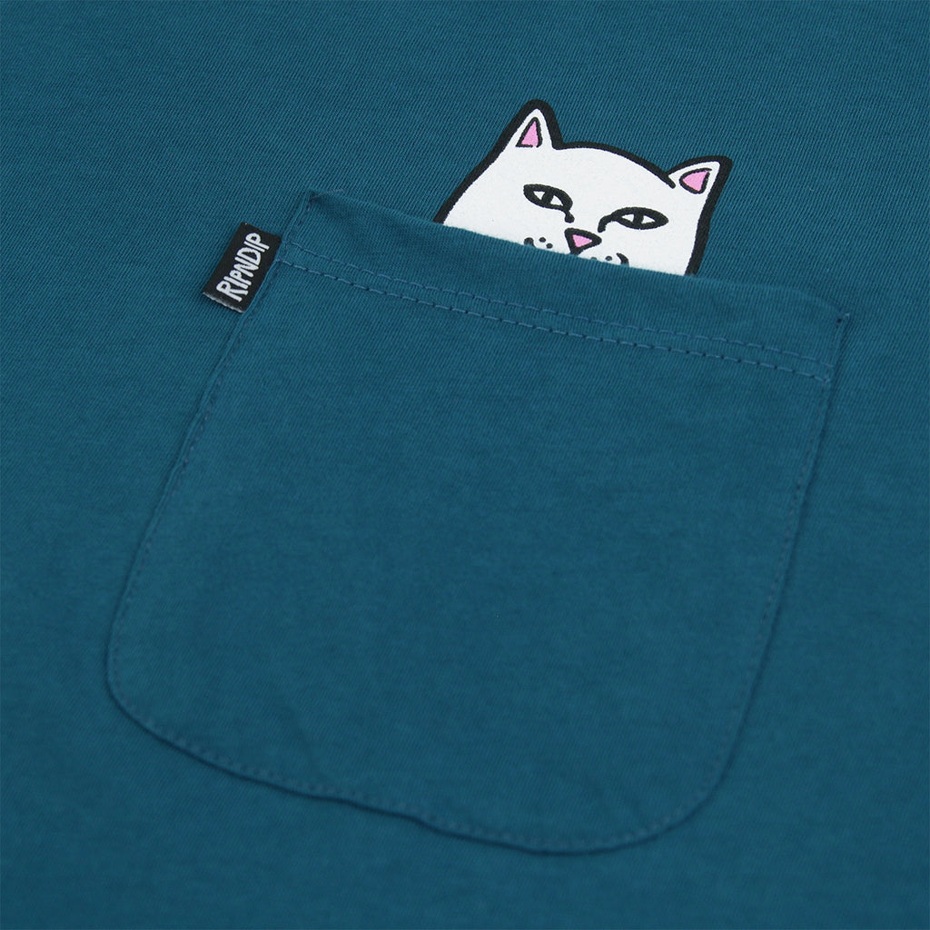 RIPNDIP Lord Nermal Pocket T Shirt in Aqua - Detail