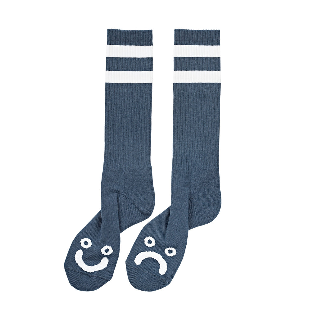 Polar Skate Co Happy Sad Classic Socks in Captain's Blue