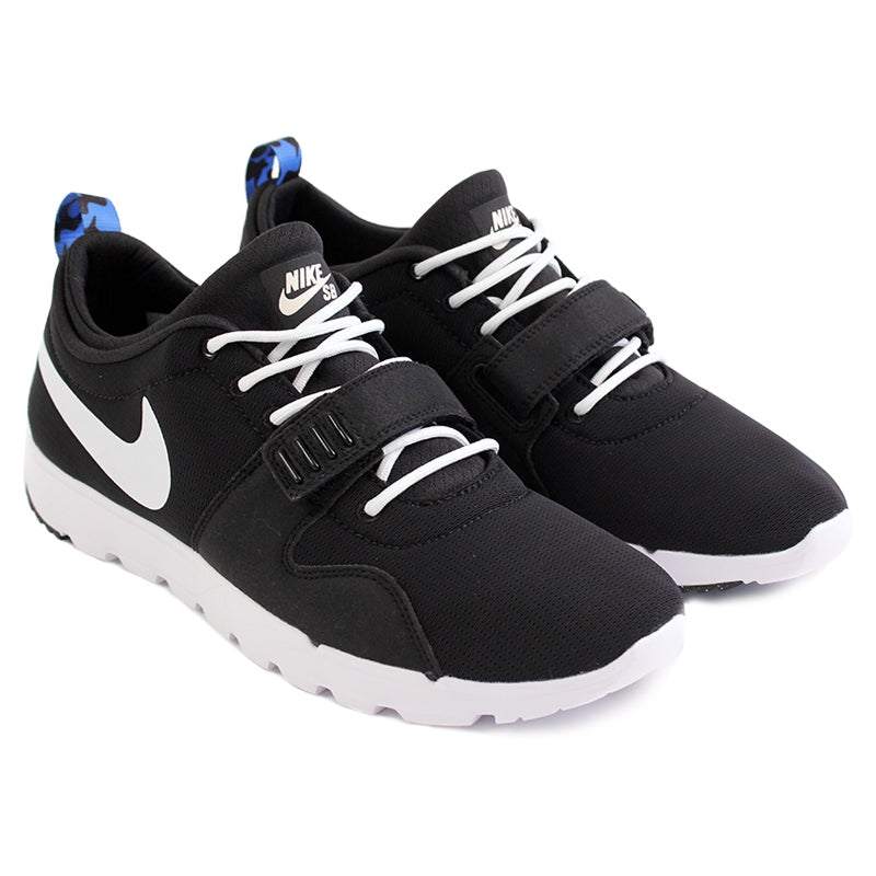 Nike SB Trainerendor SE Shoes in Black / White / Distinct Blue - Paired