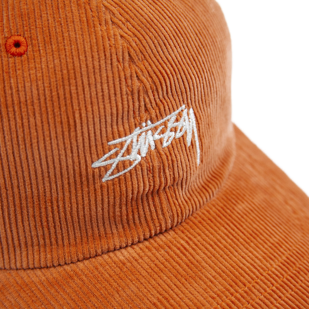 Stussy Corduroy Low Pro Cap - Orange - Detail