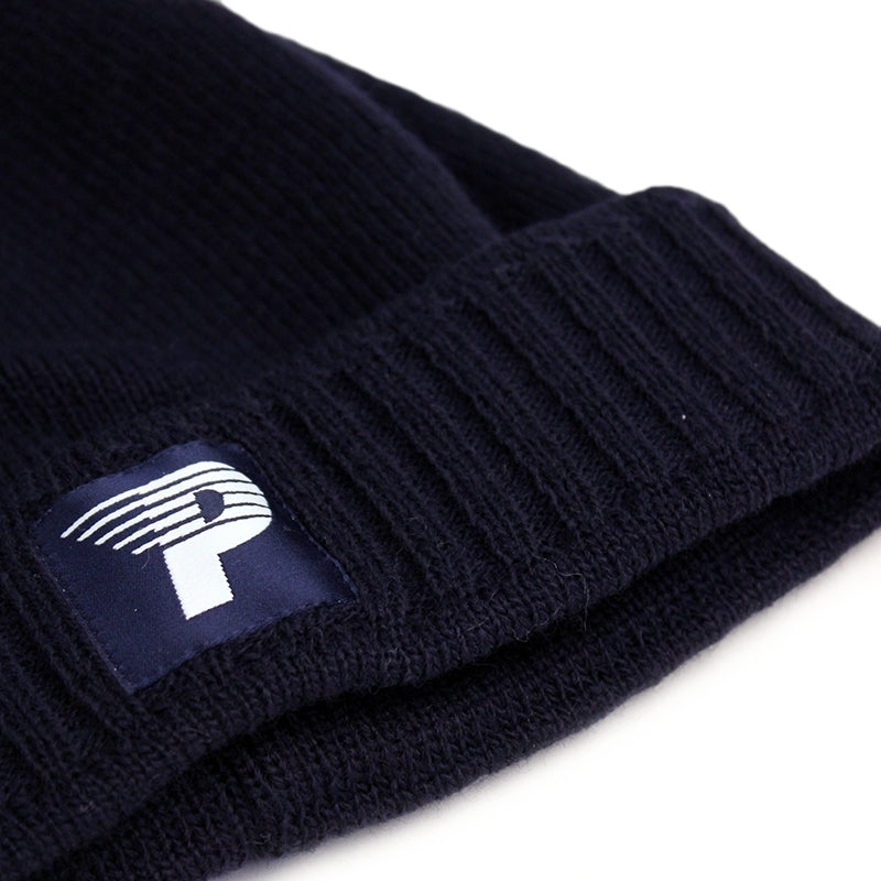 Polar Skate Co Pom Pom Beanie in Navy - Detail