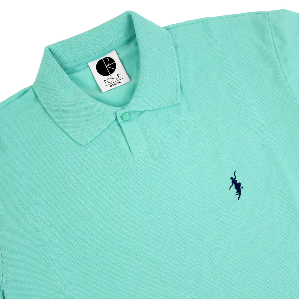 Polar Skate Co No Comply Pike T Shirt in Pastel Green / Navy - Detail