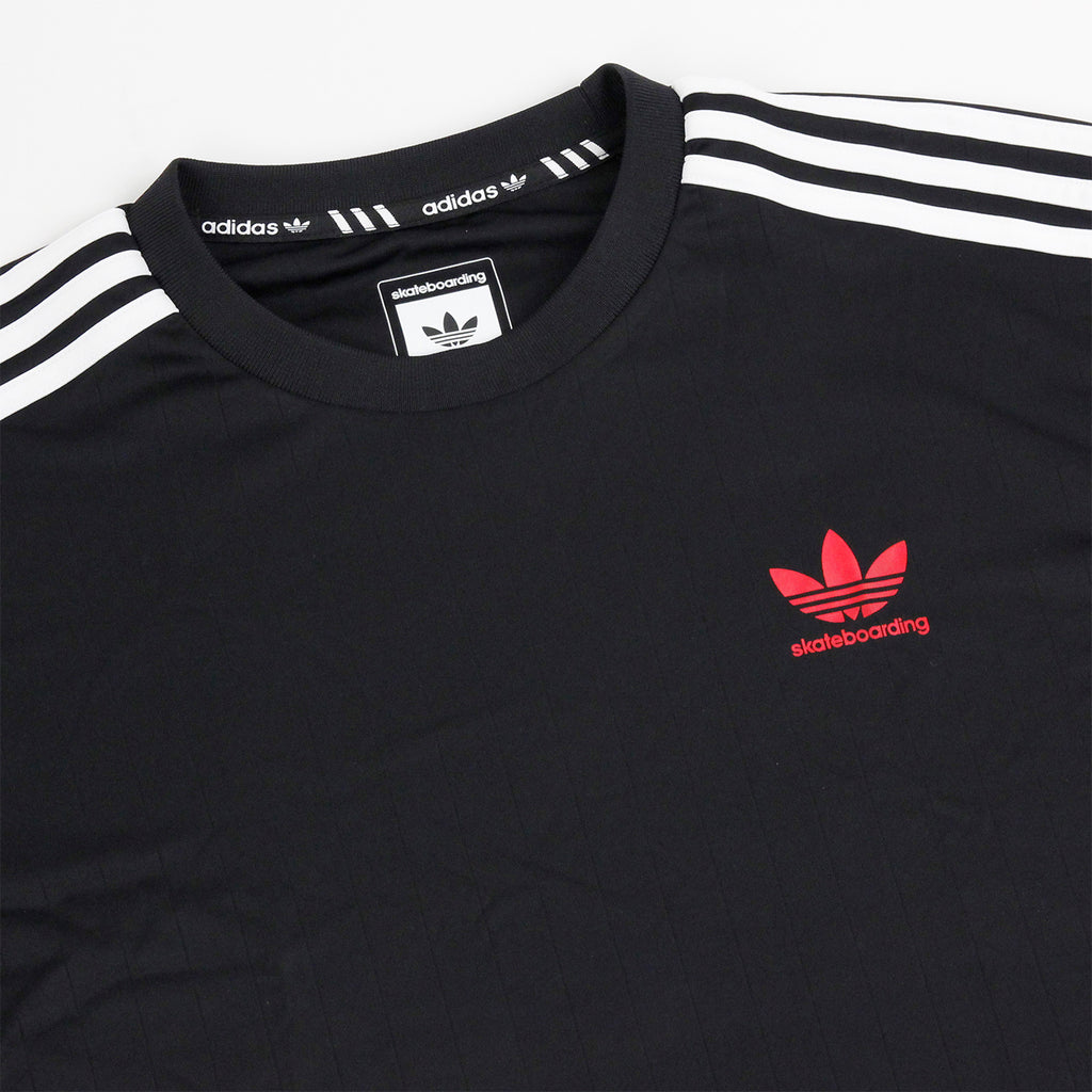 Adidas Skateboarding Clima Club Jersey in Black / White - Detail