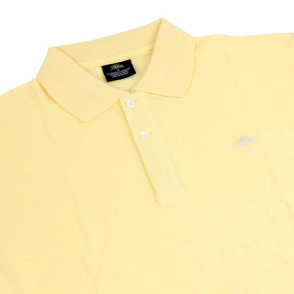 Helas Classic Polo Shirt in Pastel Yellow - Detail