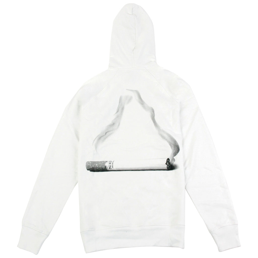 Palace Tri Smoke Hoodie in White - Back