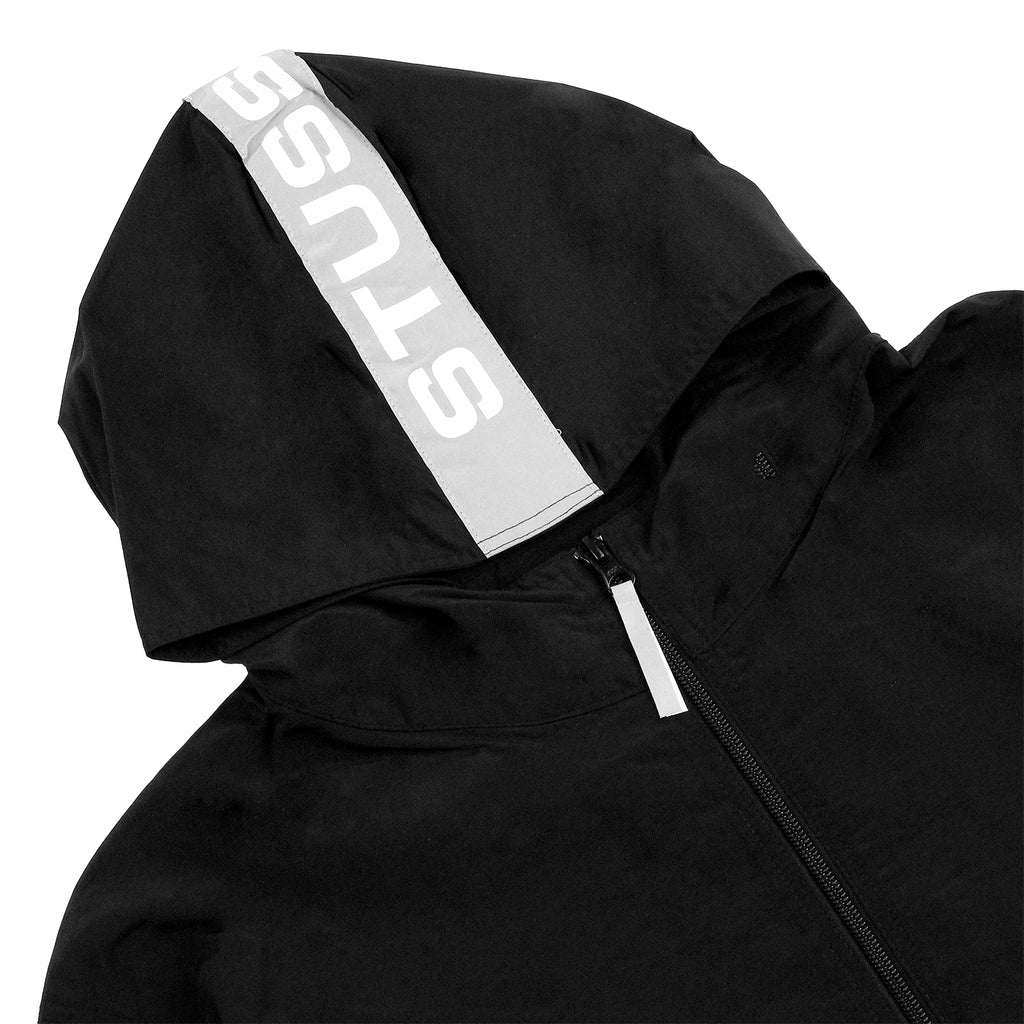 Stussy Light Nylon Full Zip Jacket in Black - Detail
