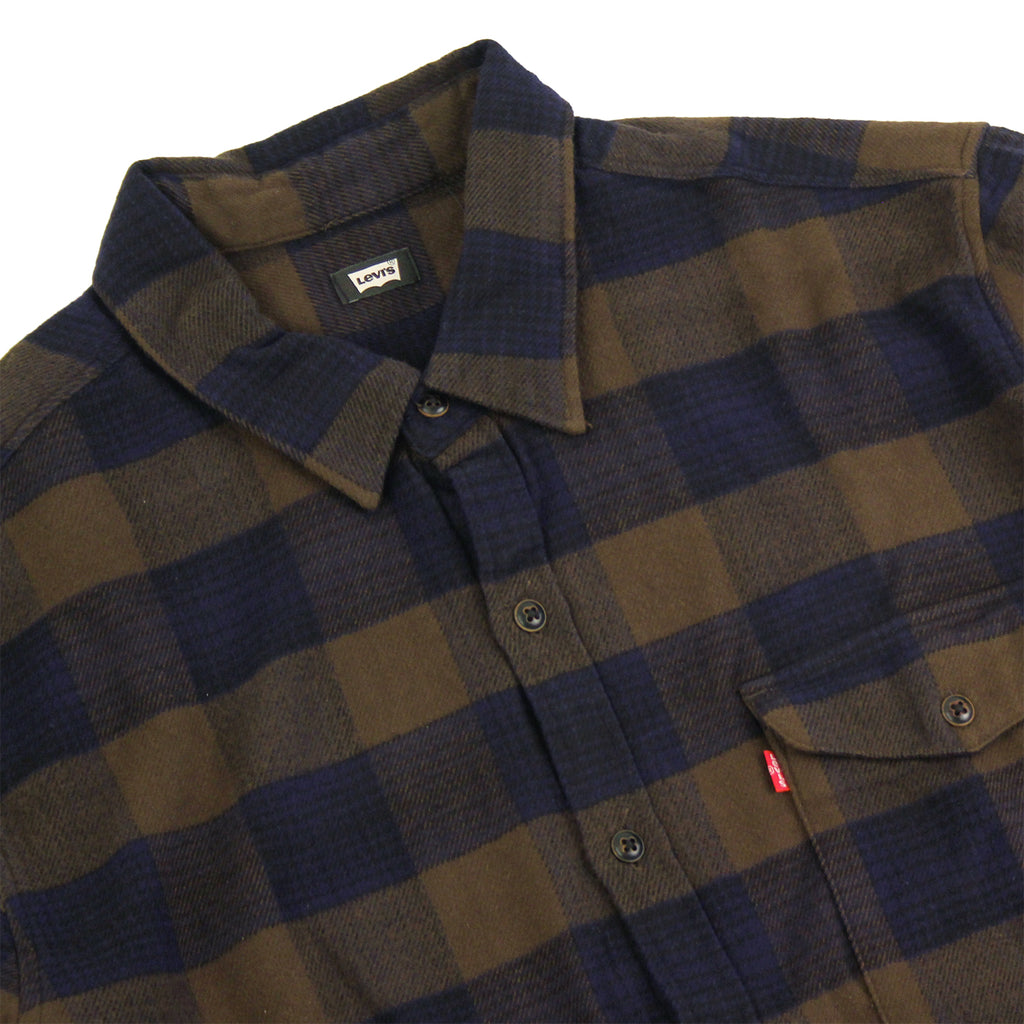 Levi's Skateboarding Collection Reform Shirt in Demitasse - Detail