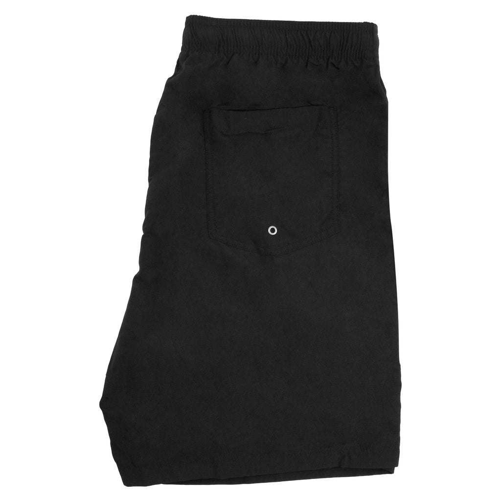 Stussy Stock Elastic Waist Trunk Shorts in Black - Back