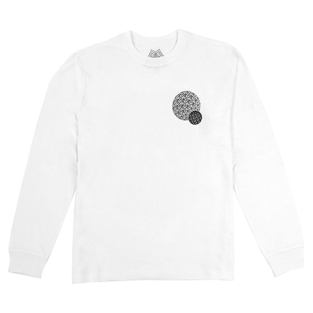 Palace If You Ain't There L/S T Shirt in White - Front