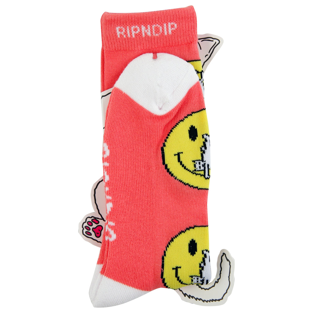 RIPNDIP Everything Will Be OK Socks in Salmon - Packaging