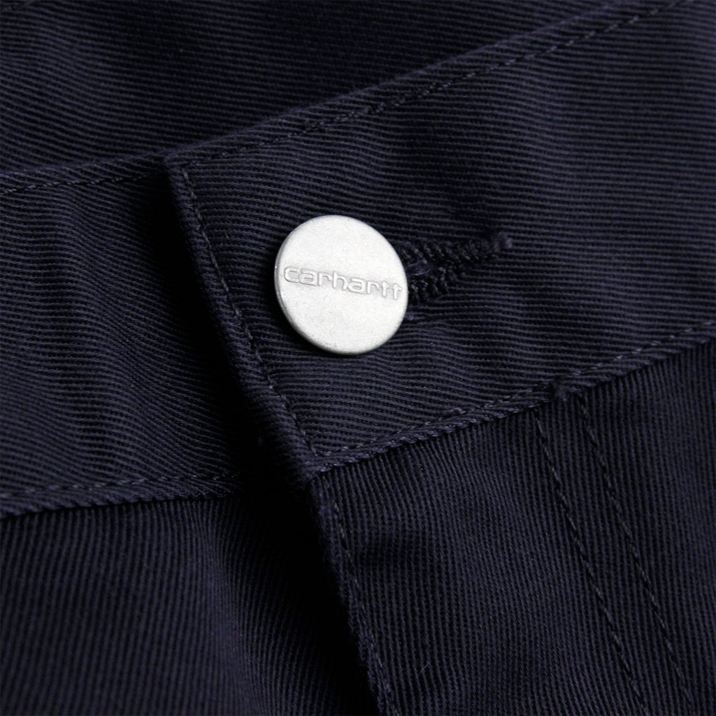 Carhartt Simple Pant in Dark Navy - Button