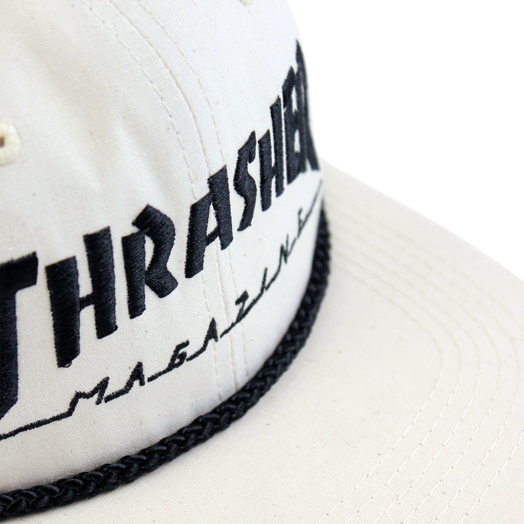 Thrasher Canvas Rope Cap in Natural - Details