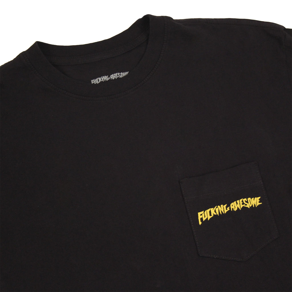 Fucking Awesome Kevin Bradley Babylon Pocket T Shirt in Black - Detail