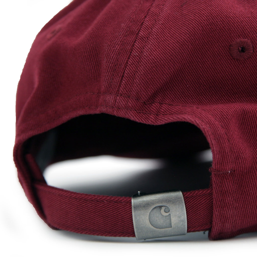 Carhartt Madison Logo Cap in Mulberry / Black - Strap