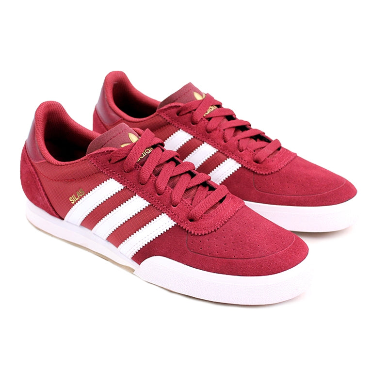 Adidas Skateboarding Silas SLR Shoes in St Nomad Red/Running White/Metalic Gold - Pair