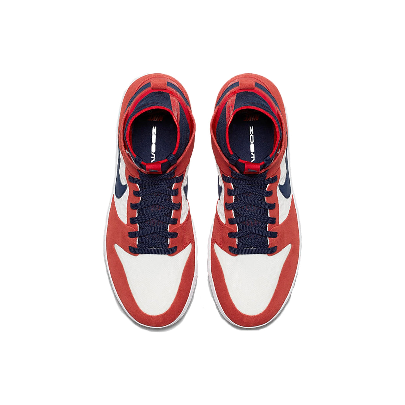 6c19fc1c0f41 Zoom Dunk High Elite Shoes in University Red   College Navy   White ...