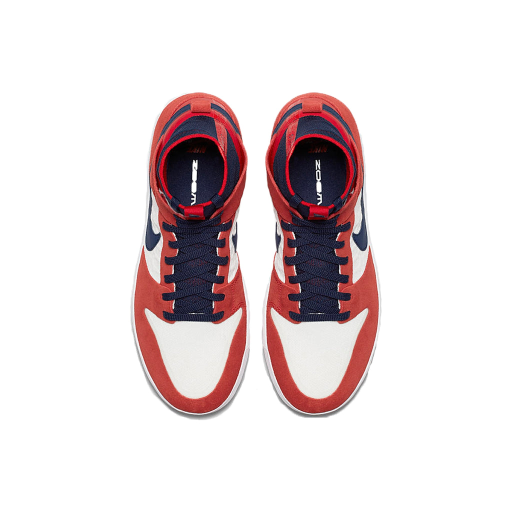 a3486e49f8a6 Nike SB Zoom Dunk High Elite Shoes in University Red   College Navy   White  -