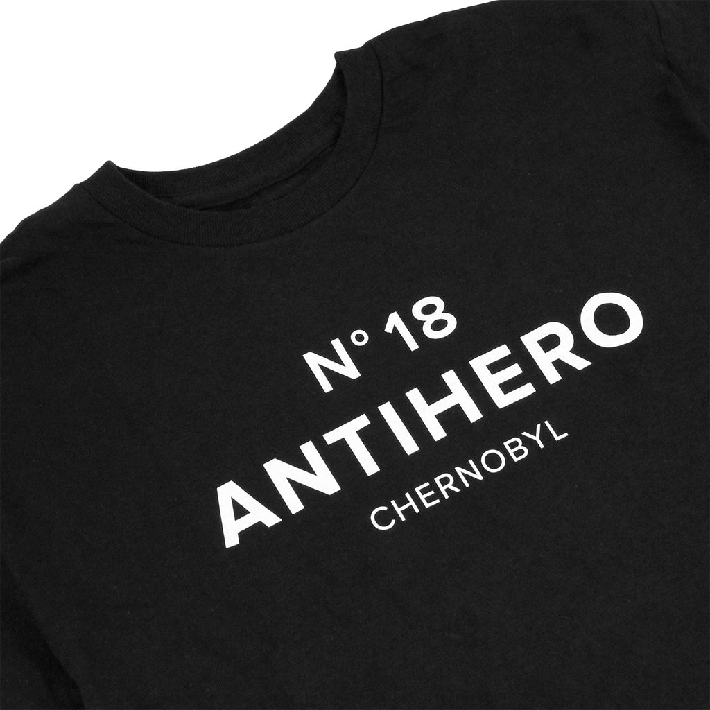 Anti Hero Skateboards Chernobyl Hero No. 18 T Shirt in Black - Detail