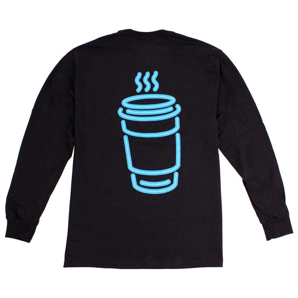 Skateboard Cafe Neon Cup L/S T Shirt in Black