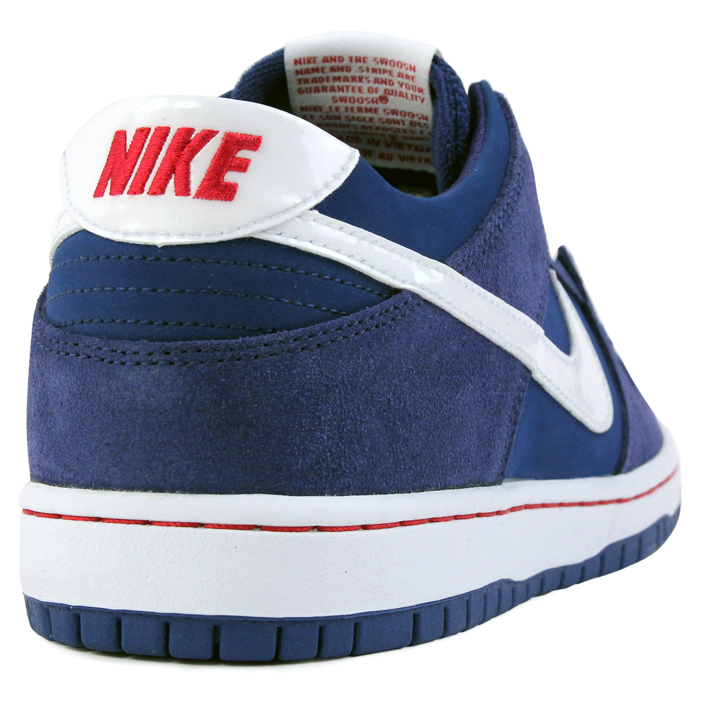 6b40ae32aea3 Nike SB Dunk Low Pro Ishod Wair Shoes - Deep Royal   White   Gym Red. Size  Charts