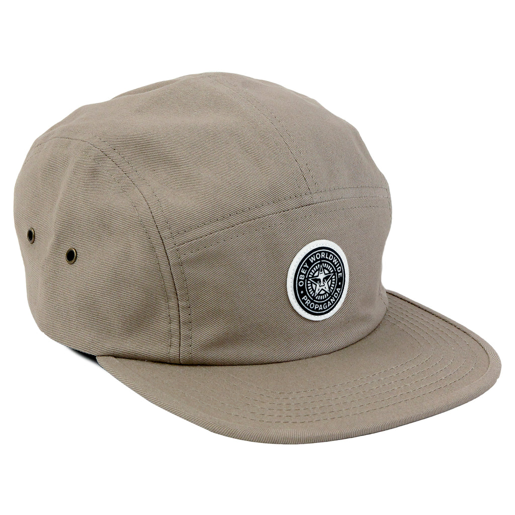 Obey Clothing Icon 5 Panel Cap in Khaki