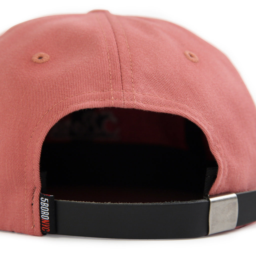 5Boro 5B Script Six Panel Cap in Salmon - Back