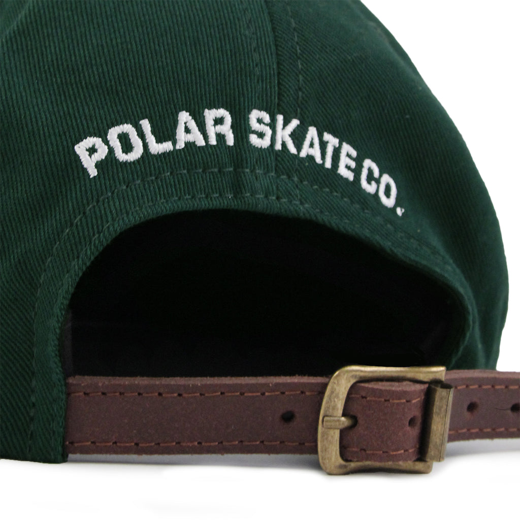 Polar Skate Co No Comply Cap in Botanical Green - Strap