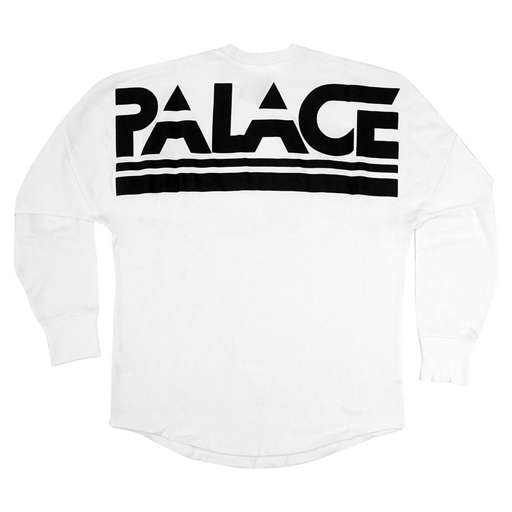 Palace Lightweight Crew Sweatshirt in White - Back