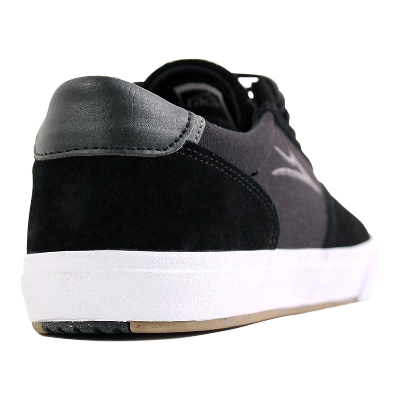 Lakai Guymar in Black / White Suede - Heel