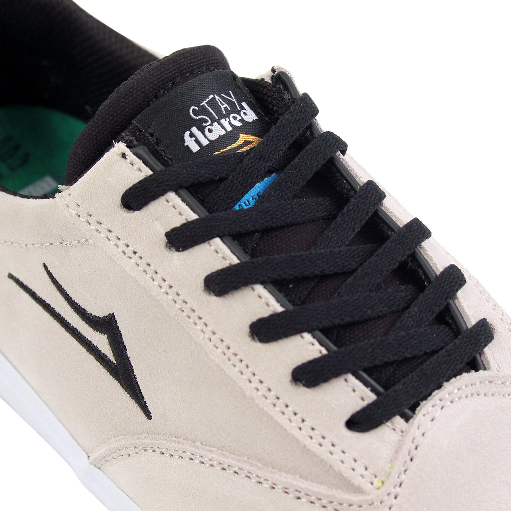 Lakai Guymar Stay Flared in White / Gum Suede - Detail