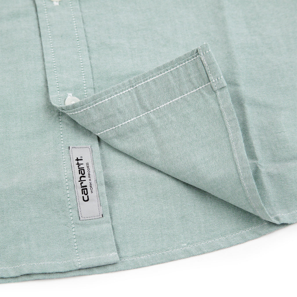 Carhartt L/S Button Down Pocket Shirt in Mojito - Label