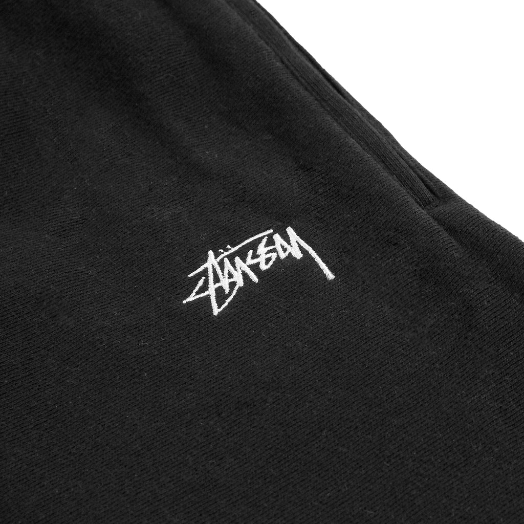 Stussy Stock Fleece Shorts in Black - Embroidery