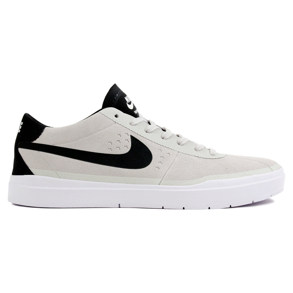 Nike SB Bruin Hyperfeel Shoes in Summit White / Black - White