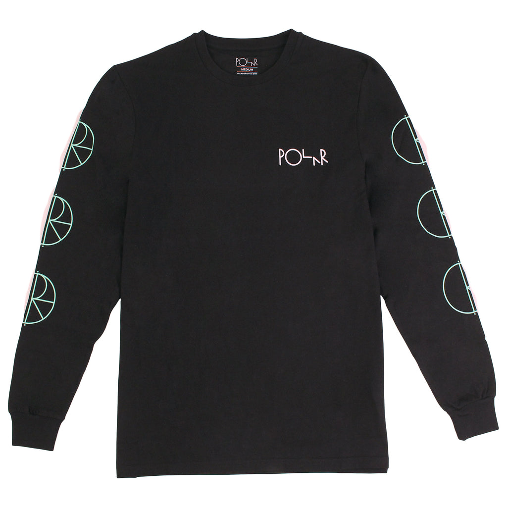 Polar Skate Co Racing L/S T Shirt - Black / Mint / White