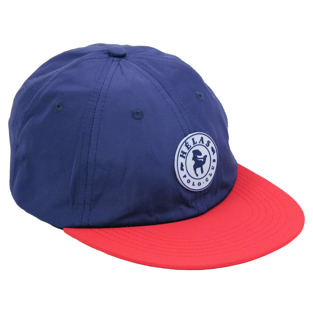 Helas Polo Club 6 Panel Cap in Navy / Red