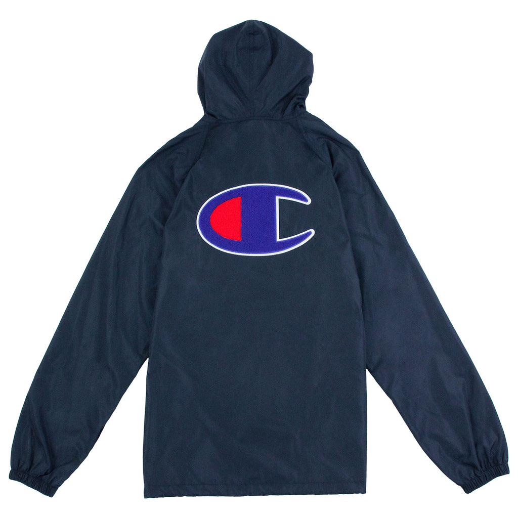 Champion Pop Over Coach Jacket in Navy