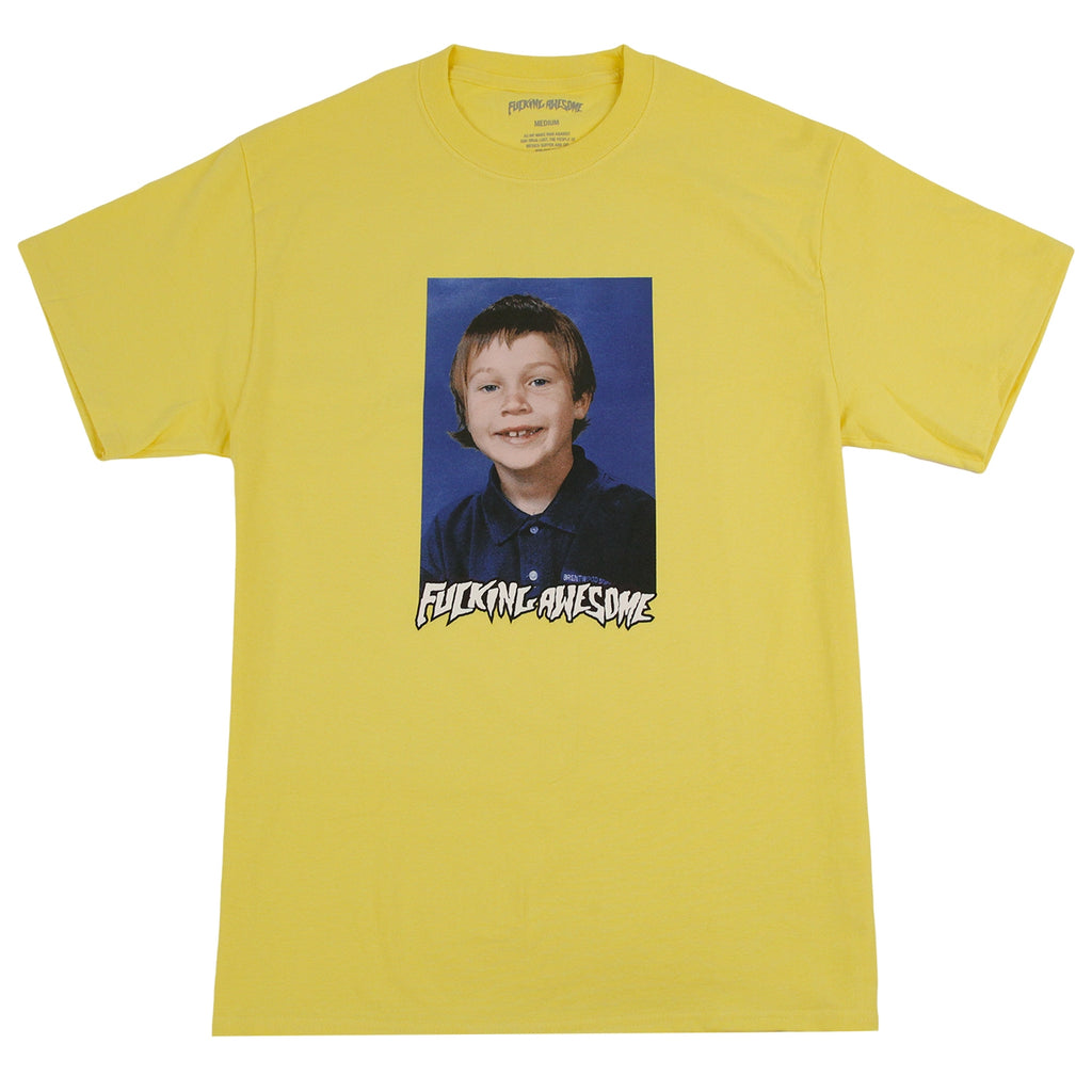 Fucking Awesome Elijah Class Photo T Shirt in Yellow