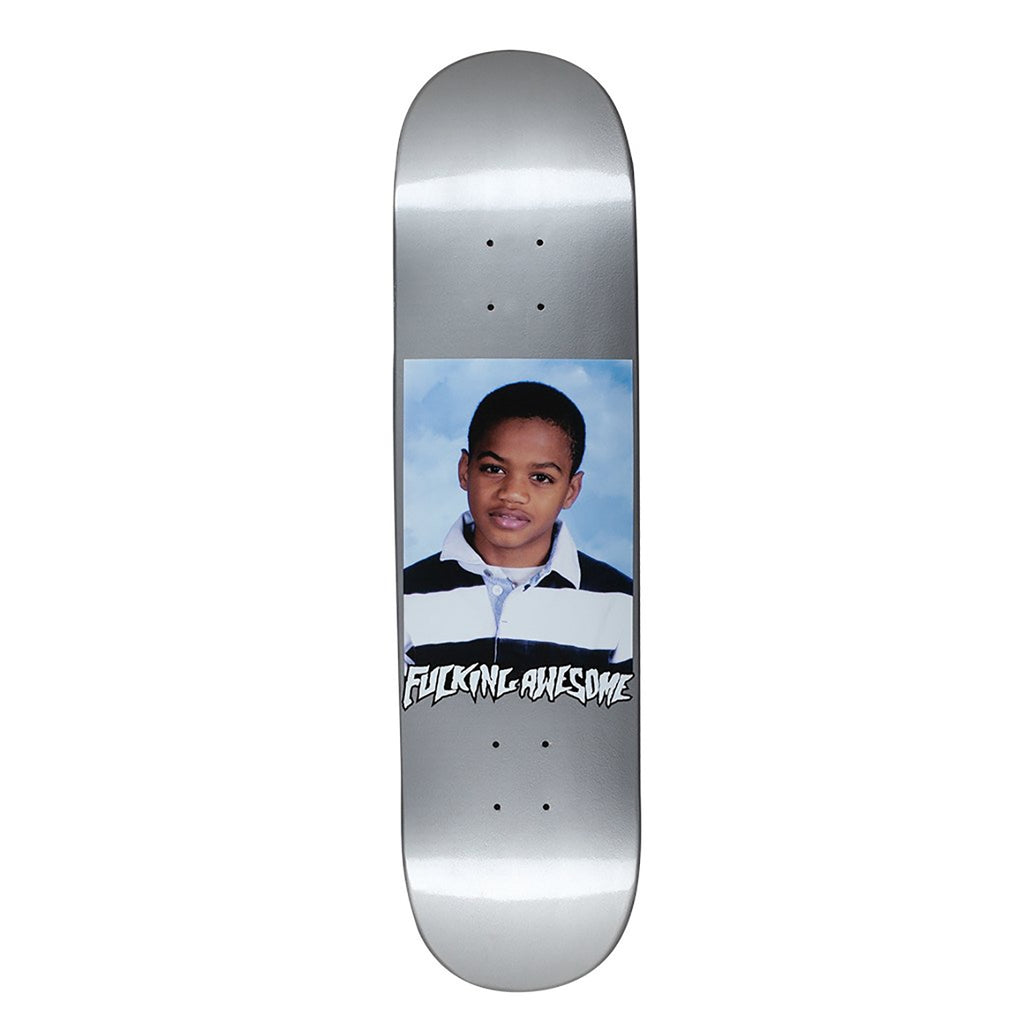 Fucking Awesome Tyshawn Class Photo Dipped Silver Skateboard Deck in 8.18""
