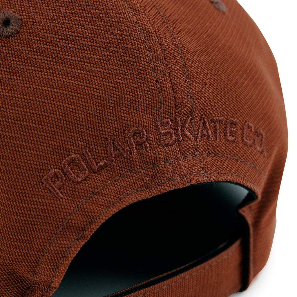 Polar Skate Co Plain Cap in Rust - Embroidery 2
